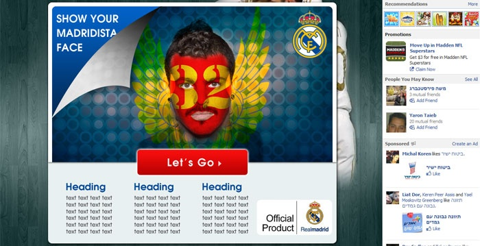 Real Madrid C.F. Facebook Face Painting